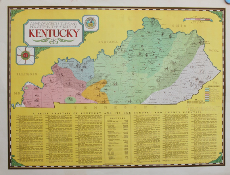 A Map of the Agriculture and Industry in the State of ...