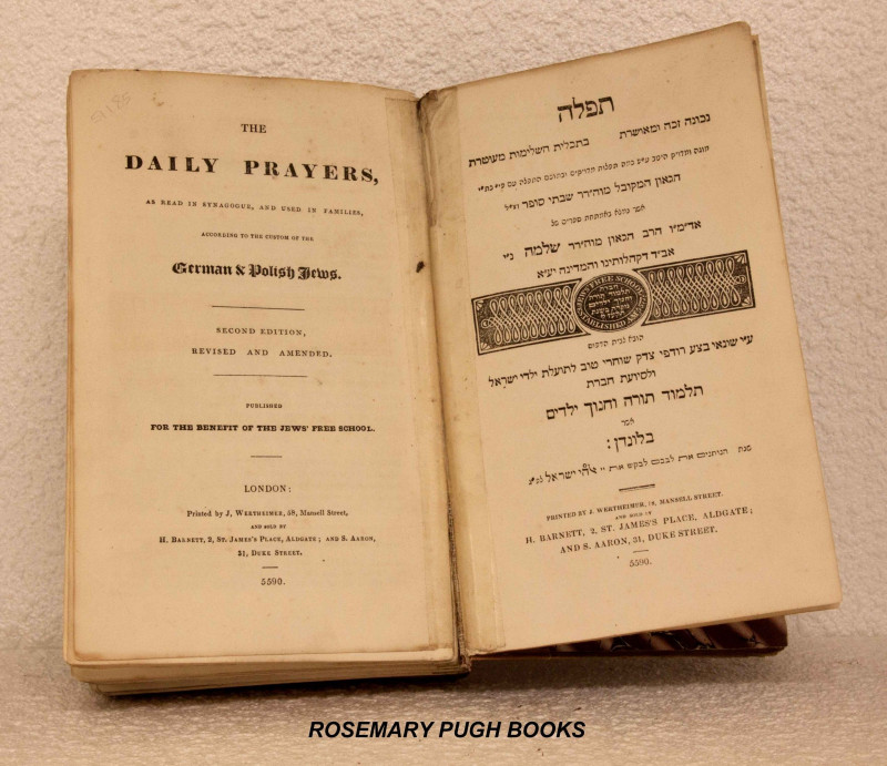 Daily prayers, as read in Synagogue and used in families